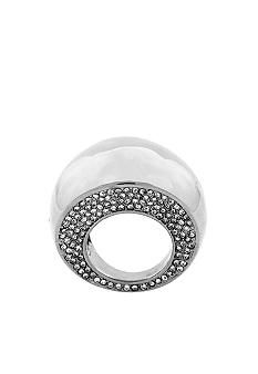 Vince Camuto Silver Domed Pave Ring