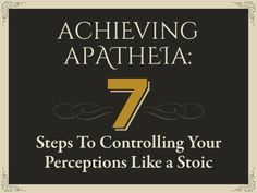http://www.slideshare.net/ryanholiday/achieving-apatheia-7-steps-to-controlling-your-perceptions-like-a-stoic … Achieving Apatheia — 7 Steps To Controlling Your Perceptions Like A Stoic #apatheia #ryanholiday