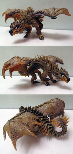 Desert Dragon : created with tissue paper & glue with acrylic paint