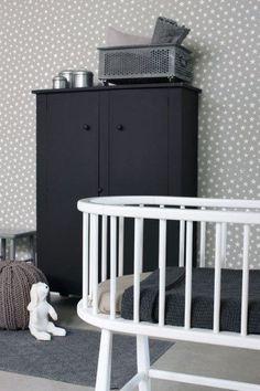 zwart wit babykamer