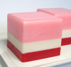 Valentines Soap Strawberries and Cream Soap by asliceofdelight