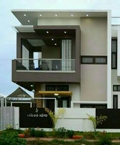 Architect Design House, Townhouse Designs, Bungalow House Design, House Front Design, Modern House Design, Luxury Homes Exterior, Exterior Design, Square House Plans, Indian House Plans