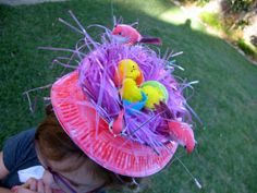 easy Easter bonnet craft found at Lottie Lulu Easter Hat Parade, Easter Crafts For Kids, Easter Ideas, Easter Projects, School Projects, Easter Activities, Senior Activities, Coloring Easter Eggs, Easter Celebration