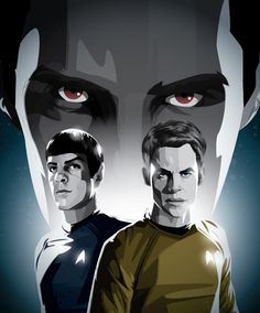 """Excellent 'Star Trek Into Darkness' Artwork Featuring Benedict Cumberbatch's """"John Harrison"""", Chris Pine's Cpt Kirk & Zachary Quinto's Spock   Flicks and Bits"""