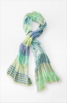 gossamer spring plaid scarf - love the plaid!