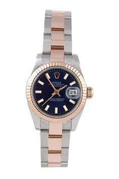 Rolex Women's Datejust Stainless Steel & Rose Gold Watch