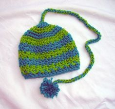 "Pixie Hat - Blue & Green $15 -- LIKE MY PAGE >  www.facebook.com/tzigns -- SHOP > www.tzigns.etsy.com Coupon code ""Pin10"" saves you 10%! #christmas #gift #giftguide #giftsforher #crochet #etsy #yarn"