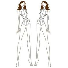 croquis female figure templates drawing figures polyvore источник clothing