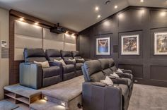 If your home is not big enough to hold large gatherings, turning the garage into a home theater can create the perfect spot for parties and