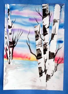 """Birch tree painting for the """"Birch"""" theme"""