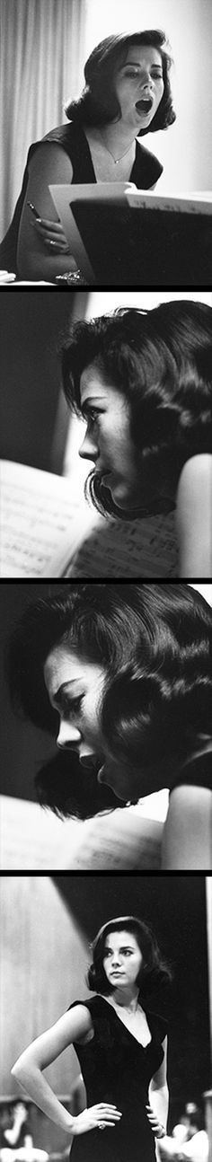Natalie Wood during rehearsals on the set of West Side Story, photographed by Ernst Haas, 1960.
