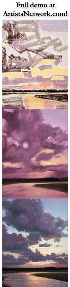 Beautiful pastel landscape by Liz Haywood Sullivan! See the full demo at ArtistsNetwork.com #painting #art
