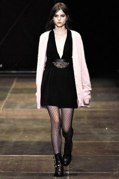 Pink Cardigan for #Romantic Winter I Pink Color #Fashion #Trend for Fall Winter 2013 I Saint Laurent #fall2013 #trendy #pink