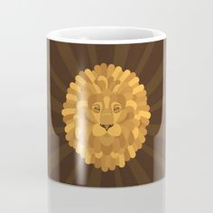 Dandelion Mug - Dandelion, dandy, lion, flowers, flower, lion, lions, animal, animals, cat, cats, gold, brown, sun ray, hybrid, floral, cartoon, vector, art, design, illustration, drawing
