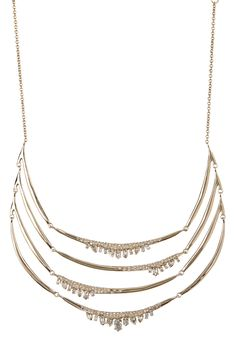 Miss Havisham Jagged Marquise Station Bib Necklace by Alexis Bittar on @HauteLook