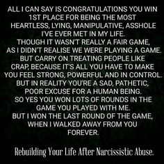 Rebuilding your life after a relationship with a narcissist Narcissistic People, Narcissistic Mother, Narcissistic Behavior, Narcissistic Abuse Recovery, Narcissistic Personality Disorder, Narcissistic Sociopath, People Quotes, True Quotes, Toxic Relationships