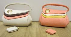 Handbag and purse - pale orange/cream | ELF Miniatures