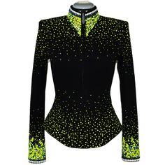 Lisa Nelle Show Clothing — Electric Lime Green Jacket XXS/XS, Hobby Horse Janie Tunic inspiration http://wrapslady.myitworks.com/crazywrap/