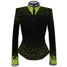 Lisa Nelle Show Clothing — Electric Lime Green Jacket XXS/XS, Hobby Horse Janie Tunic inspiration