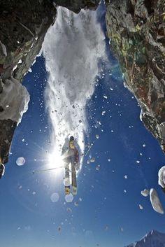 Skiing the Crystal Mountain, Washington. Photo by B. Hazen.