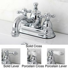 For the guest bath! Heritage Chrome 4-inch Center Bathroom Faucet ...