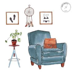 Good objects - Ok, I will sit and wait for spring…………… #goodobjects #illustration