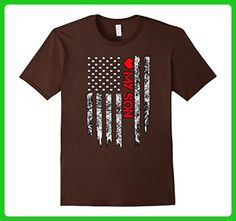Mens Firefighter flag shirt - Love My Firefighter Son tee Small Brown - Careers professions shirts (*Amazon Partner-Link)