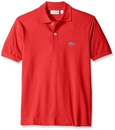 Lacoste L1212 : Men's Short Sleeve Classic Pique Polo Shirt Fusion Pink (3)