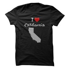 I Love California with Heart and California State Silhouette