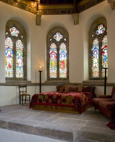This is an old post but I must have missed it! This beautiful church renovation in Kyloe, Northumberland was purchased and renovated to be a home. The folks spent about £92,000 ($142,500) to purchase it, £300,000 ($465,000) renovating it but have now built its value up to an estimated £650,000 ($1,007,000). Amazing!