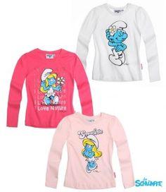Kaikki Smurffiina paidat koossa 110-116 cm.