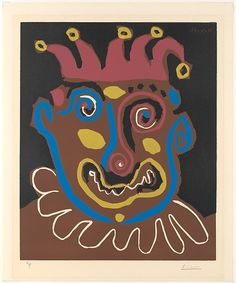 Pablo Picasso | The Old Jester by Pablo Picasso (Spanish, Malaga 1881–1973 Mougins, France ). 1953