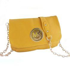 15c8b4afbab0 Michael Kors Fulton Messenger Medium Yellow Crossbody Bags Outlet Mod  Fashion