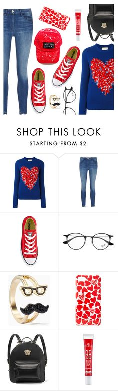 """""""Cool casual look"""" by dressedbyrose ❤ liked on Polyvore featuring Gucci, Converse, Ray-Ban, Kate Spade, Versace, ootd, polyvoreeditorial and coolbeauty"""