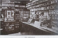 The pharmacy at the Zeehan Hospital in c.a 1900. •Tasmaniana Library,State Library of Tasmania•