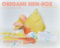 origami hen-box | designed by leyla torres | Stampin' Up! | kreativerfreiraum.de