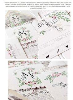 ナチュラルデザインが素敵な招待状&カードアイデア | Weddingcard.jp