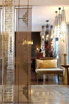 New folding screen design decor Ideas Decor, Decor Design, Moroccan Interiors, Room Partition Designs, Pooja Room Design, House Interior Decor, House Interior, Wall Design, Room Design