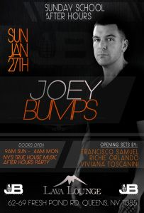 JOEY BUMPS w/ RICHIE ORLANDO @ LAVA LOUNGE SUN. JAN. 27TH