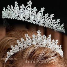 Bridal Wedding Sparkling Tiara use Swarovski Crystal Wedding Tiaras, Wedding Gowns, Wedding Cakes, Sparkle Wedding, Circlet, Tiaras And Crowns, Marie, Swarovski Crystals, Dream Wedding