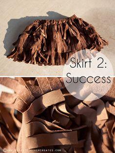 Suede Fringe Skirt DIY by ohsohappytogether, via Flickr