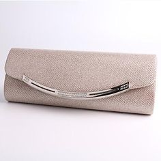Women s Bags Polyester   Metal Evening Bag Crystal   Rhinestone Black    Silver   Almond 0870c0e9c45