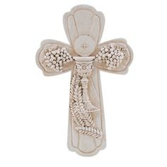 First Communion Boxed Cross, Ivory Resin, 7.5 inch, $25.95. #CatholicCompany