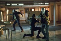 Currie Graham, Stephen Amell and Kyle Schmid in Arrow picture - Arrow picture #4 of 77