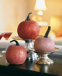 diy glitter pumpkins #halloween #fall #crafts