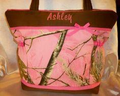 Pink Realtree Boutique camo princess hunters duffle diaper bag | DesignsByKeri4U - Bags & Purses on ArtFire