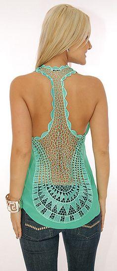 Back detail crochet. Need for summer
