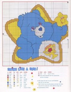 CHARMS IN POINT CROSS: Care Bears and Other