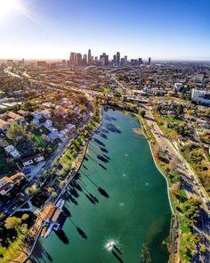 Echo Park City of Los Angeles California by santamonicaboardwalk | CaliforniaFeelings.com #california #cali #LA #CA #SF