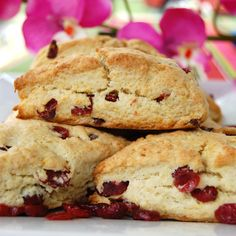 These sweet biscuit-like Cranberry-Orange Scones are overflowing with cranberries and flavored with a hint of orange. This weekend I went to my home town to celebrate my brother-in-laws birthday. M...